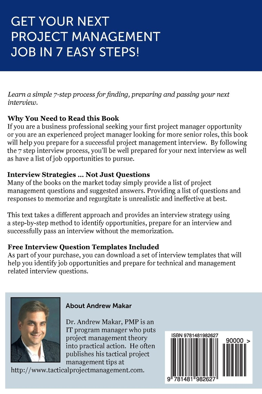 project management interview questions made easy for successful project management interview questions made easy for successful project management interviews dr andrew j makar 9781481982627 com books