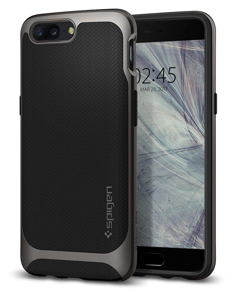 spigen Funda OnePlus 5 [Neo Hybrid] Premium Bumper [Gunmetal ...