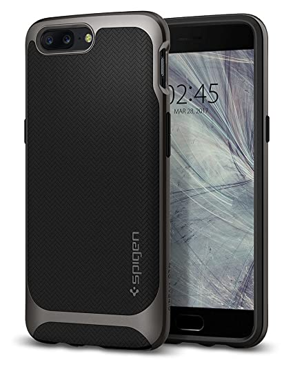 official photos 6f1cd b5ca6 Spigen Neo Hybrid Designed for OnePlus 5 Case (2017) - Gunmetal
