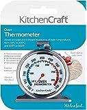 Kitchencraft Termómetro para horno 50ºC a 300ºC, Acero, Plateado, 4.3x6.6x8 cm, una unidad