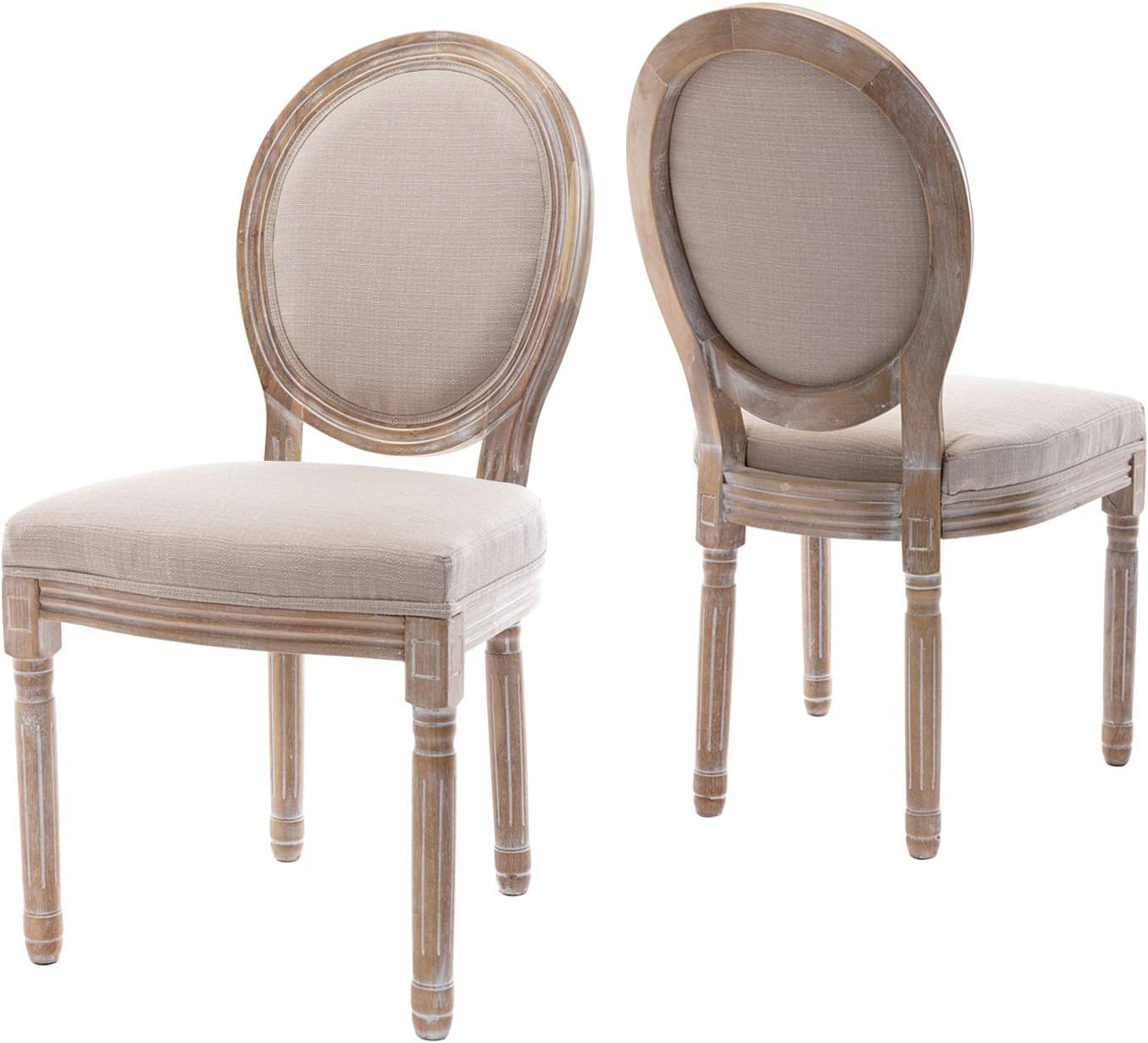 Oval back Louis style upholstered side chair. #frenchcountry #chairs #diningfurniture #diningchair #louisstyle