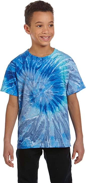 Youth L Flo Yellow Lime Tie Dye T-Shirts Short Sleeve Youth XS Cotton,
