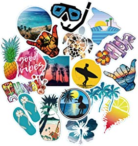 Olort 50 Pack Waterproof Vinyl VSCO Teens Girls Stickers Compatible with HydroFlask Skateboard Water Bottle DIY Decoration Laptop Decals Gift Card Luggage Car Bicycle Guitar Travel Case Outdoor Sport
