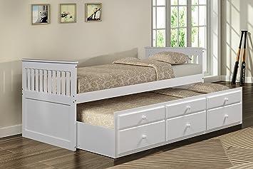 Amazon Com Merax Captain S Platform Storage Bed With Trundle Bed