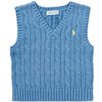 Ralph Lauren Baby Boys Cable Knit Sweater Vest (6-9 m)