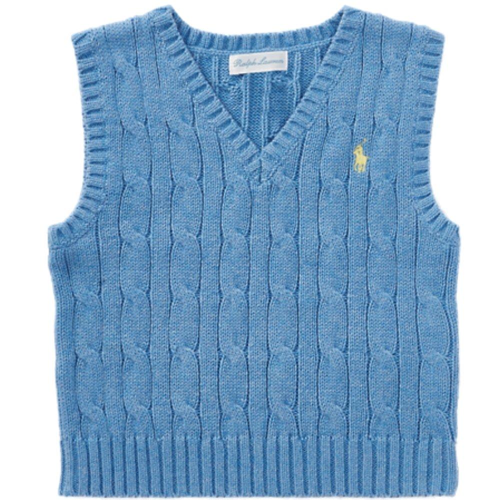 Ralph Lauren Baby Boys Cable Knit Sweater Vest (18 m)