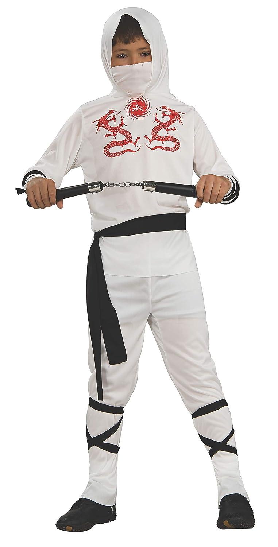 Rubies Childs White Ninja Costume, Medium