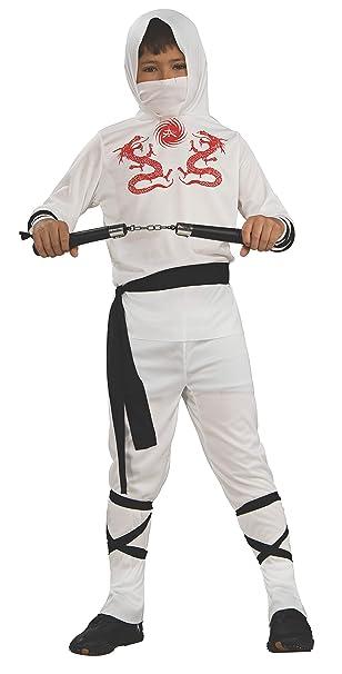 Haunted House Childs White Ninja Costume, Small