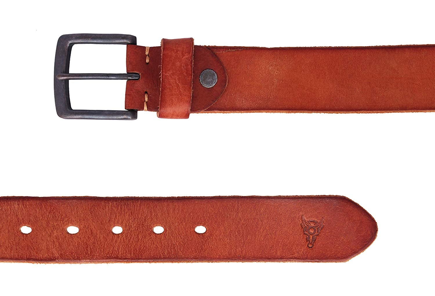 Blackbuck Premium Leather Belts Tan Color With Pin Lock Buckle For men