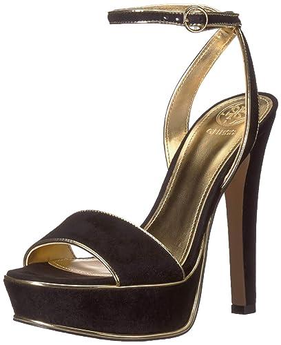 2d445774776 GUESS Women s Empresy Velvet Platform Heels