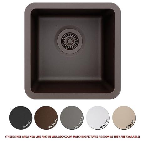 Amazon.com: Lexicon Platinum Quartz Composite Kitchen Sink - Small ...