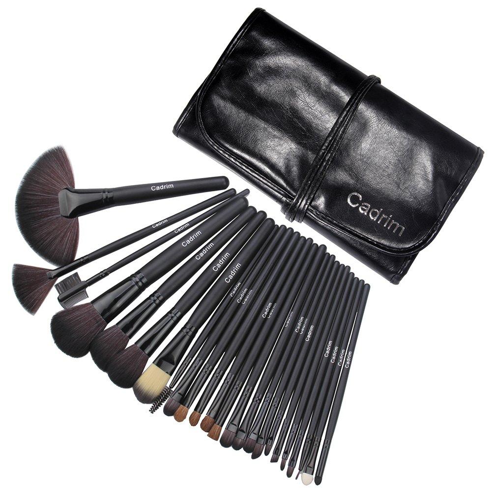 Brochas de Maquillaje,Cadrim 24pcs Maquillaje Profesional Pinceles Maquillaje de Ojos Rubor Contorno de los Labios Corrector Brochas Cosméticas + ...