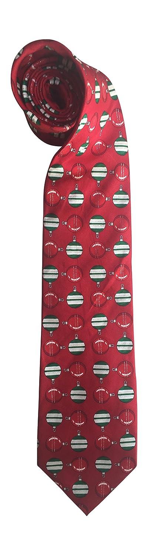 Christmas Tie 100/% Silk Xmas Tree Lights Bulbs Decorations Red 42