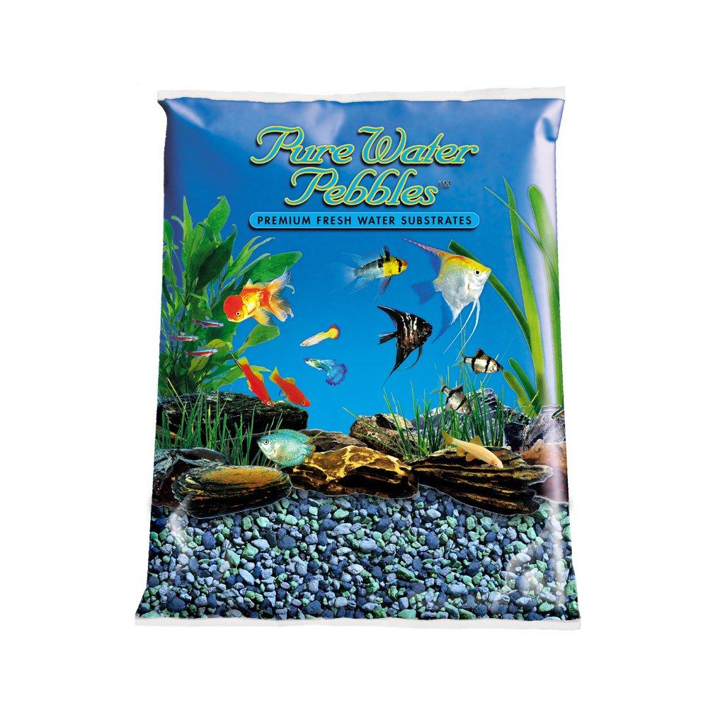 Pure Water Pebbles Aquarium Gravel, 25-Pound, Blue Lagoon by Pure Water Pebbles