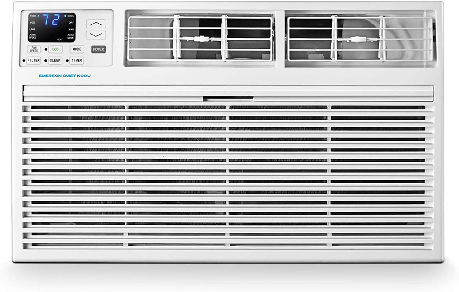 Emerson Quiet Kool 230V 14K BTU Through The Wall Heat and Cool Combo Remote Control, EATH14RD2 Air Conditioner, 14000 Standard, White