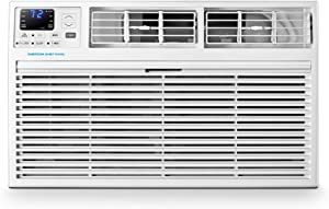 Emerson Quiet Kool 230V 12,000 Wall Air Conditioner with 10,600 BTU Supplemental Heating, EATE12RD2T, 12000 Standard, White