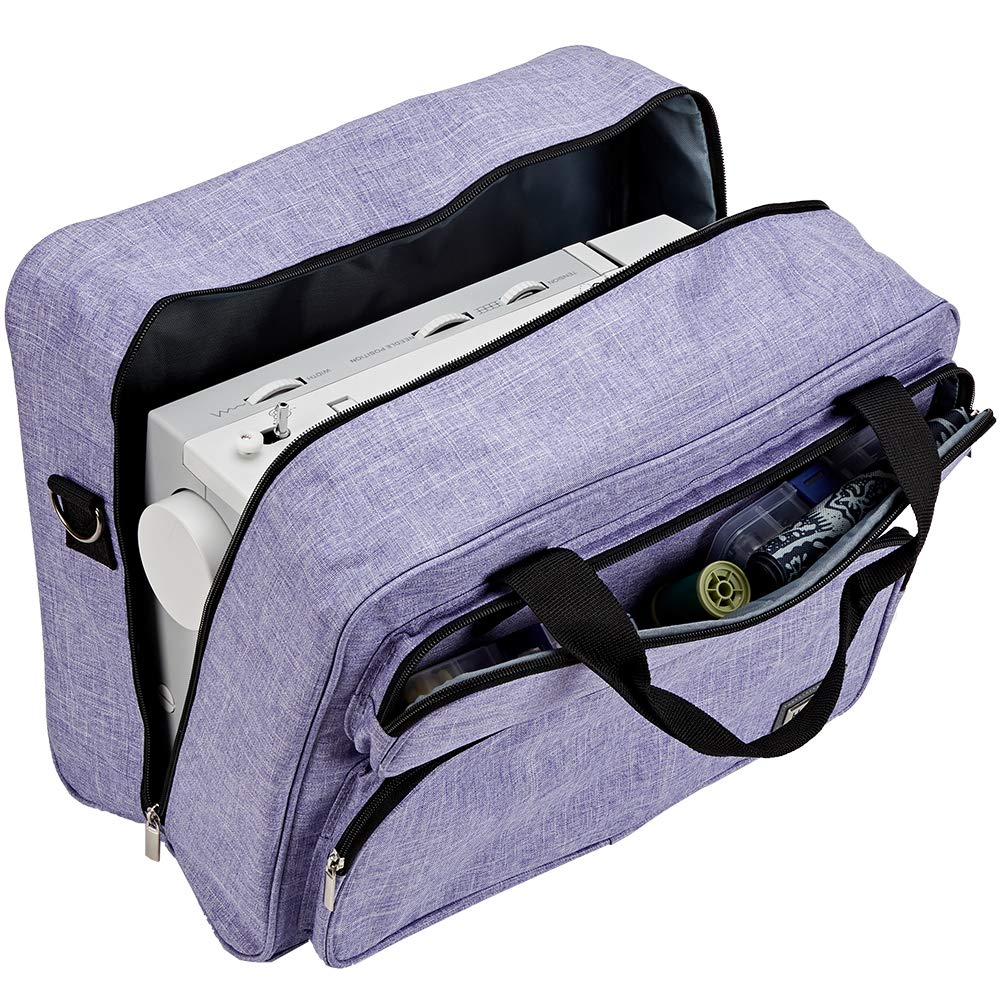 Brother Janome Purple HOMEST Sewing Machine Carrying Case Universal Tote Bag with Shoulder Strap Compatible with Most Standard Singer