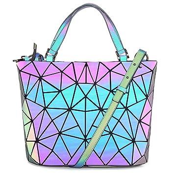 b87b6e46bb20b HotOne Scherbe Gitter Design Geometrische Tasche PU-Leder Einzigartige  Geldbörsen und Handtaschen (Leuchtend Mittel