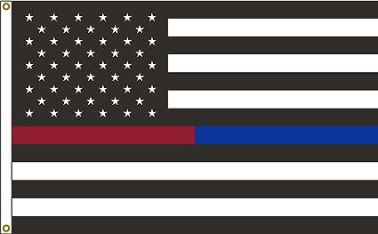 Amazon.com: Policía y Bombero Delgada Línea Rojo y azul la ...