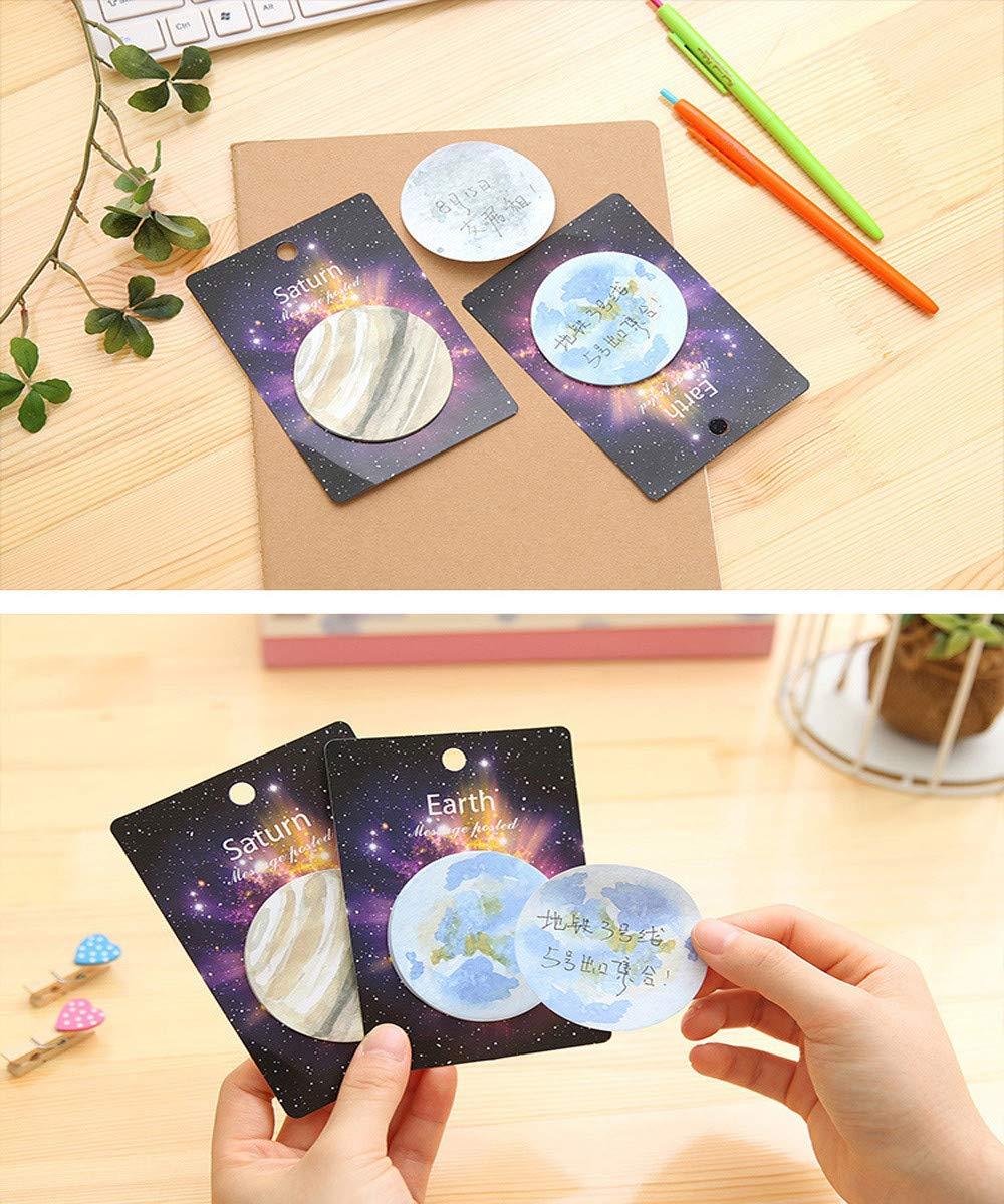 TAOtTAO Star Planet - Bloc de notas adhesivas, para papelería, material escolar, marcadores 12.5 x 8.8 A: Amazon.es: Hogar