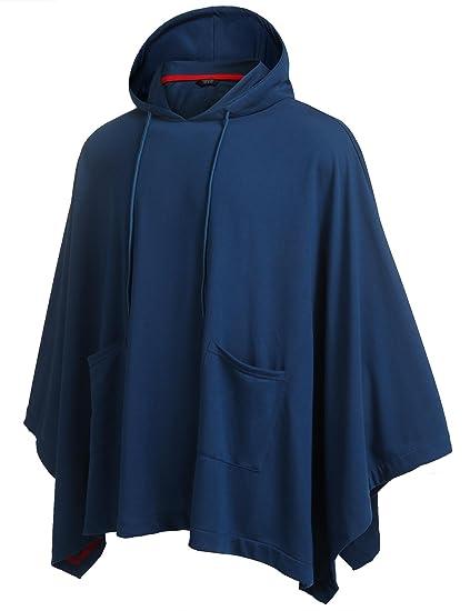 Poncho Cape Herren Asymmetrisch Loose Mode Kapuzenpullover Hoodie Sweatshirt   Amazon.de  Bekleidung e21c649be2