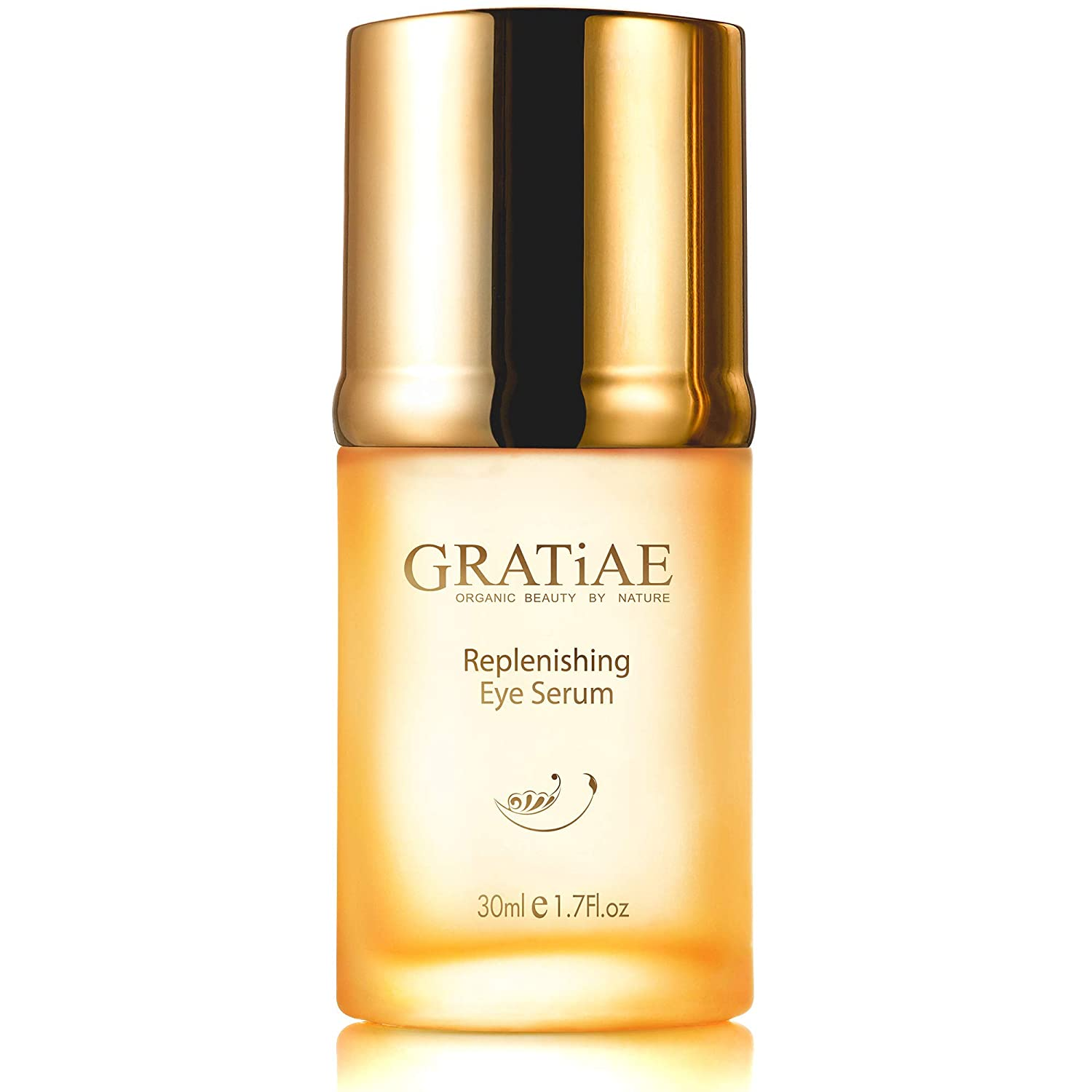 Gratiae organic replenishing eye serum, anti-aging serum for Wrinkles, Crows Feet and Puffiness, dark circles under eye treatment, minimize wrinkles and superior skin care for Sagging skin, with vitamin E oil & retinol 1.02 Fl.oz