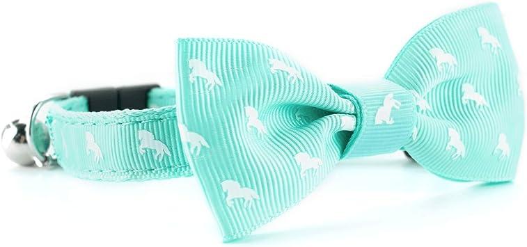 Katt & Hound - Corbata de Gato Elegante, Color Verde Menta con ...