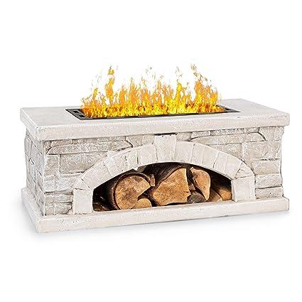 FireView Massive /& stabile Konstruktion aus Stahl schwarz Feuerschale: 35 x 35 cm blumfeldt Macondo Feuerstelle Gartenkamin Feuerlaterne Gartenofen Holzfach