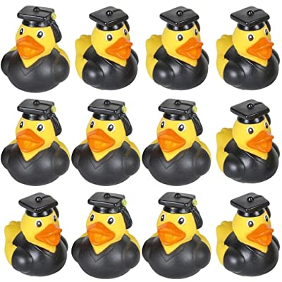 24 GRADUATION Rubber Duckies Ducks - 2 inch