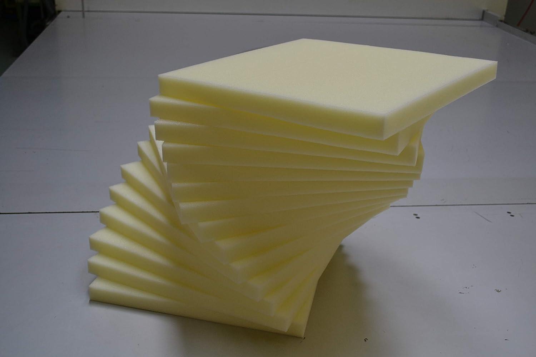Coussins de chaise Nord-Plume Plaque en Mousse Polyéther 6x6x6cm