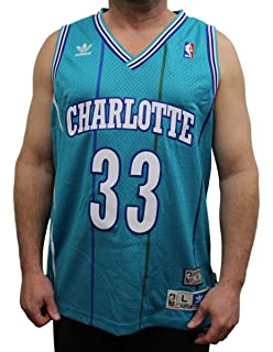bd55697635b Alonzo Mourning Charlotte Hornets Adidas NBA Throwback