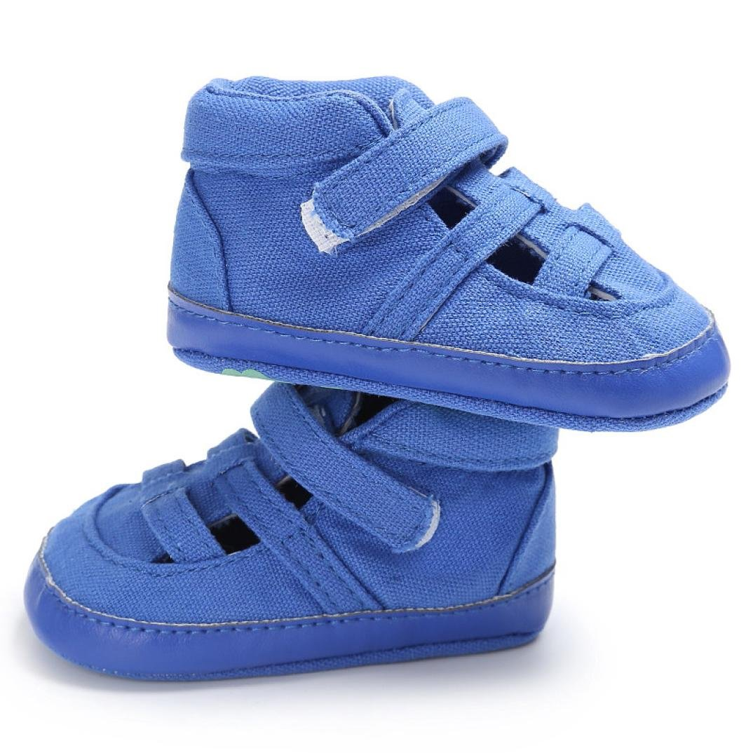 WARMSHOP Baby Toddler Solid Color Canvas Shoes Crib Newborn Boys Girls Soft Sole Unisex Sandals