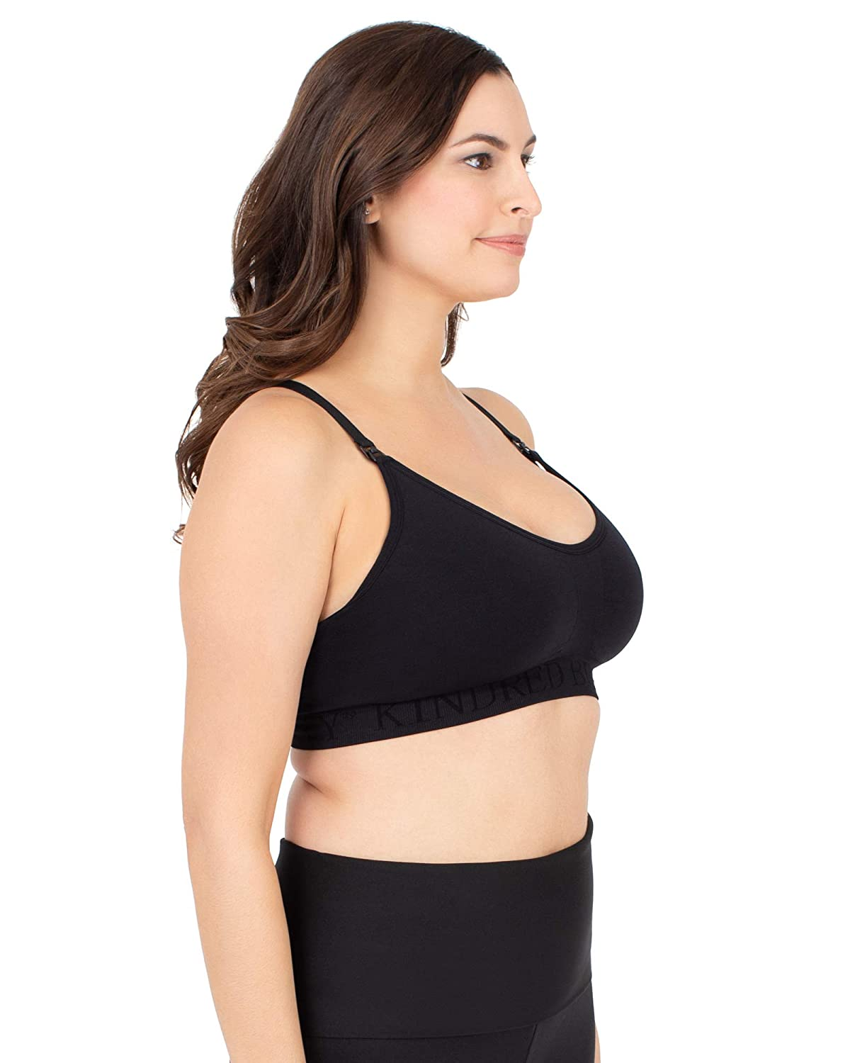 177bb4b19e6af Kindred Bravely Sublime Support Low Impact Nursing   Maternity Sports Bra  (Black