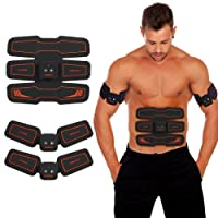 HURRISE EMS Muscle Stimulator, Abs Trainer Stomach Toning Belt Abdomen/Waist /Leg/Arm/Buttock with 6 Modes & 15 Levels USB Rechargeable,Body Fitness Exercise Equipment (men/women) (high)