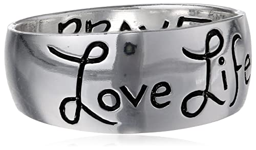 Sterling Silver Love Life Inscribed Outside And Be Brave Inside