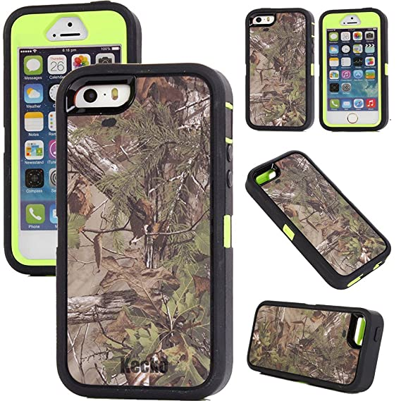 buy popular 23e40 fe75a For iphone 5s Case, Generic Defender Series Heavy Duty Realtree Camo  Shockproof Dirtproof Military Grade Drop Scratch Resistant Hybrid Bumper  Full ...