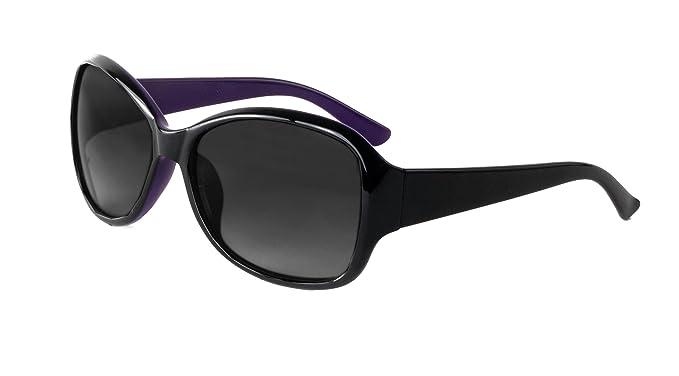 90aaf4e559c5 DM Merchandising Inc. Optimum Optical Women's Butterfly Sunglasses,  Meridian (Black Purple)