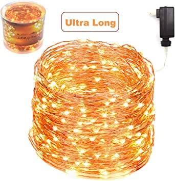 Zaecany 132 Feet 400 Leds Copper Wire String Lights Christmas Lights Indoor Decoration For Party Wedding Bedroom Christmas Tree Outdoor Fully