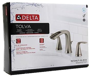 Amazon Com Delta Tolva 35724lf Ss Eco Bathroom Sink Faucet Brushed