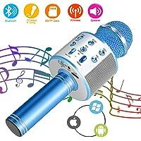 SunTop Micrófono Inalámbrico Karaoke Bluetooth, Portátil Altavoces Microfono