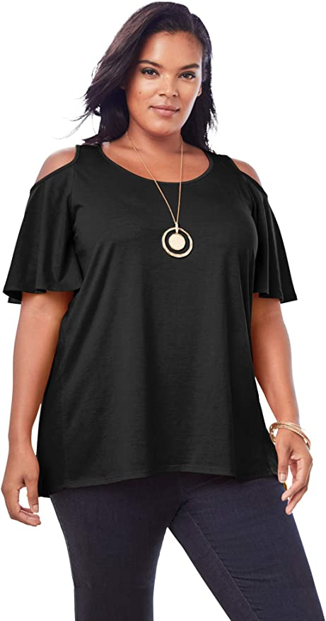 New Versatile Tunic Cold shoulder Tunic Plus size Top Comfortable and Trendy Fits up to 5xl Summer Magic Poncho tunic in Lagenlook Top