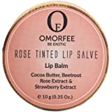 OMORFEE Organic Rose Strawberry, Beetroot and Cocoa Butter Tinted Nourishing Lip Balm (Pink, OBE033)