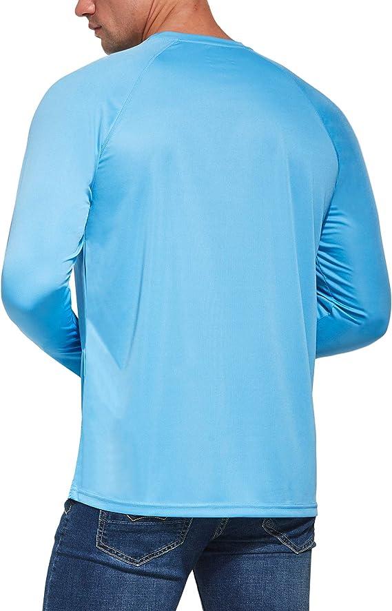 con Pulgar Agujeros Ogeenier Camisetas de Manga Larga Hombre con Protecci/ón Solar UV UPF 50