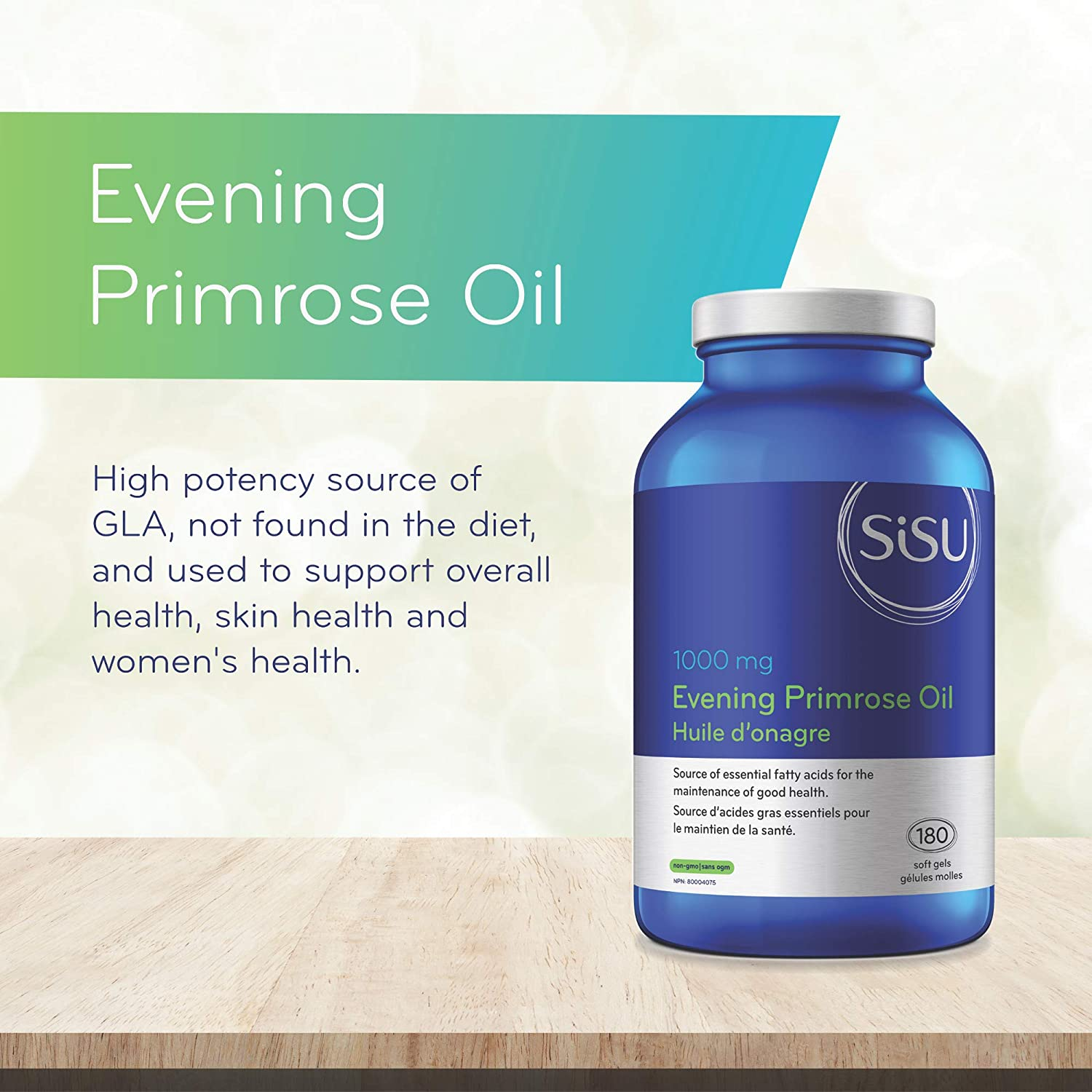 Sisu Evening Primrose Oil 1000 mg, 180 Softgels - Omega 6 Essential Fatty  Acid Supplement - Hormone Balance Support - Non-GMO, Soy, Gluten & Dairy  Free - 60 Servings: Amazon.ca: Health & Personal Care