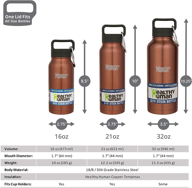Healthy Human Bouteille isotherme /à double paroi en acier inoxydable