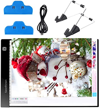 Image Unavailable. Image not available for. Color  SanerDirect Diamond  Painting A4 LED Light Pad - Dimmable Tracing ... 50ae58f06fc7