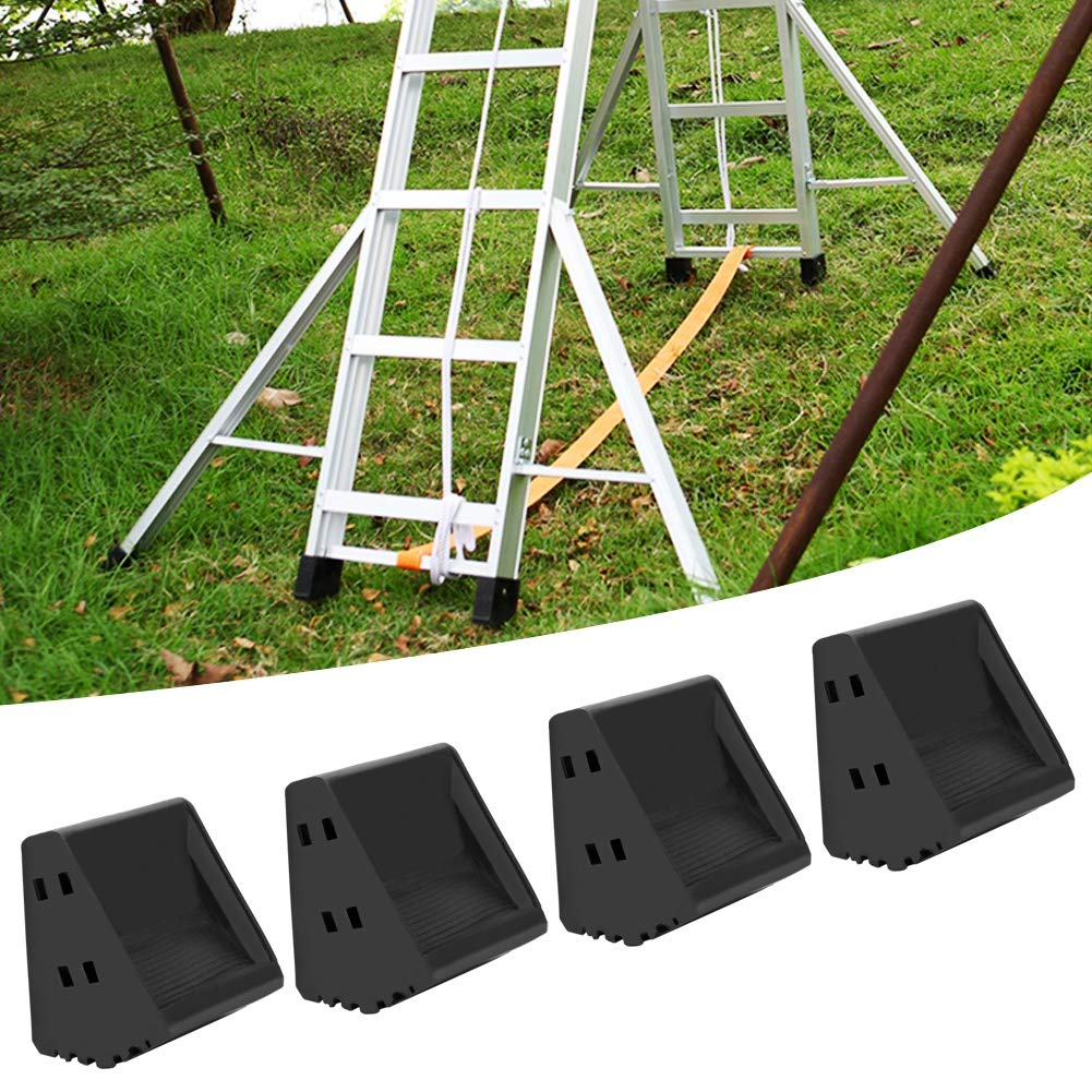 Rubber Ladder Feet Covers 4Pcs Non Slip Ladders Foot Covers kit Security Folding /& Extension Ladder Foot Replacement Cushion for Slick /& Pitched Surface Safe Working on Vinyl Wood Tile Floor