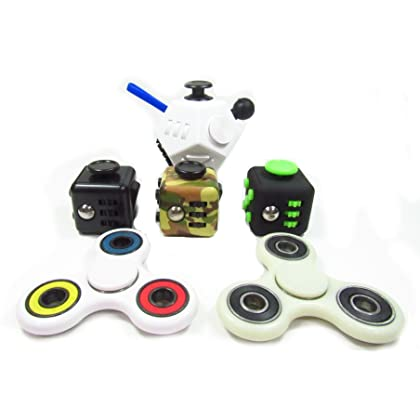 Oliasports Anxiety Attention Variety Pack 3 Fidget Cube Plus 2 Fidget Spinner Plus 1 2nd Gen Fidget Cube Same as Pictured