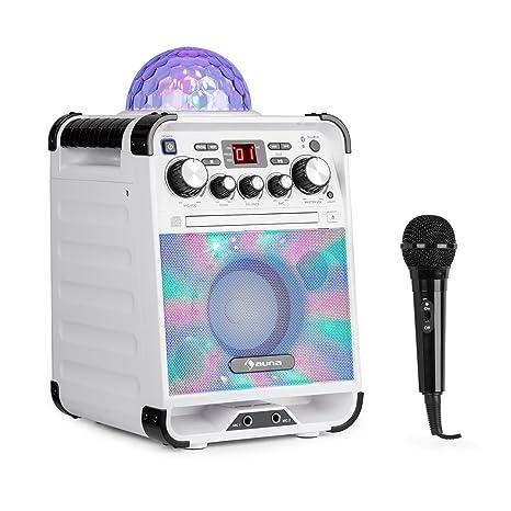 auna Rockstar • Karaoke • Equipo de Sonido pequeño • Equipo de Karaoke • Bola de ...