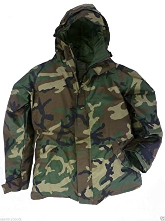 New US Army Cold Wet Weather Gen 1 ECWCS Woodland Goretex Parka Jacket Coat  (Small d26c59f8f